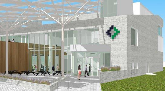 Finition des entrées de nouveaux bâtiments